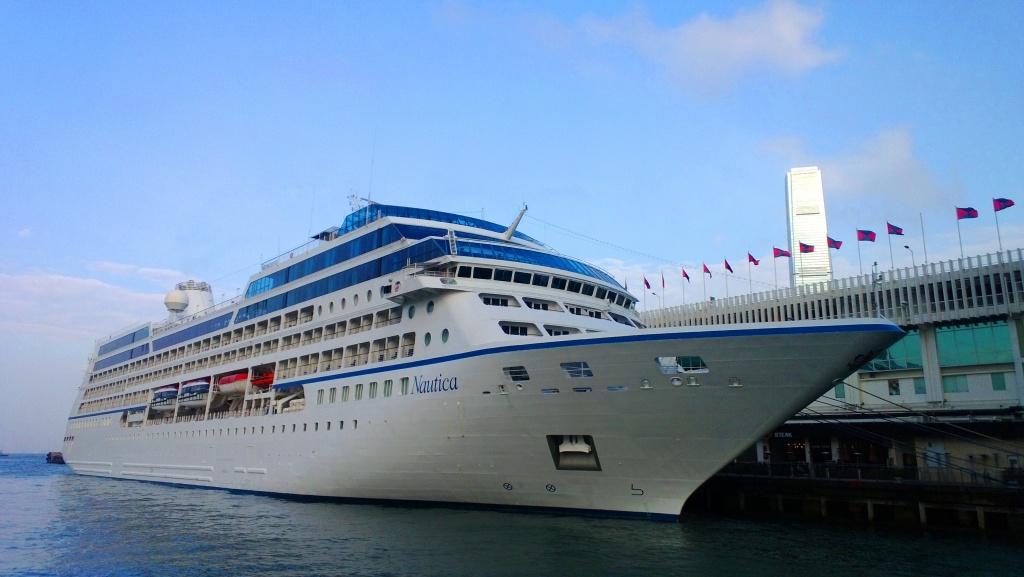 Nautica berthing Ocean Terminal