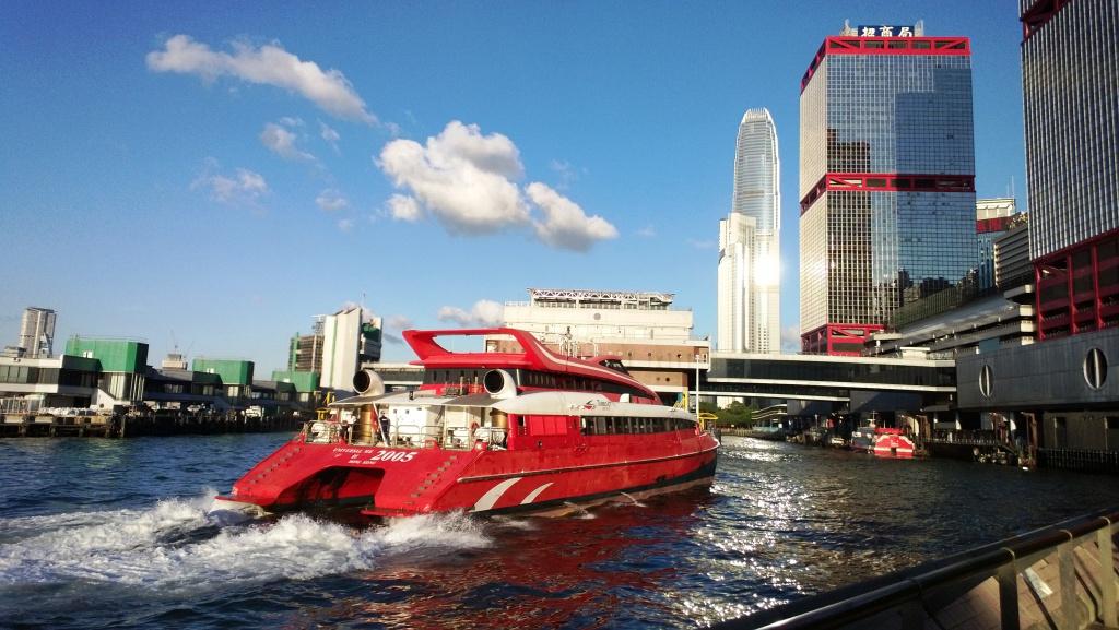 TurboJet Ferry going to Shun Tak Center