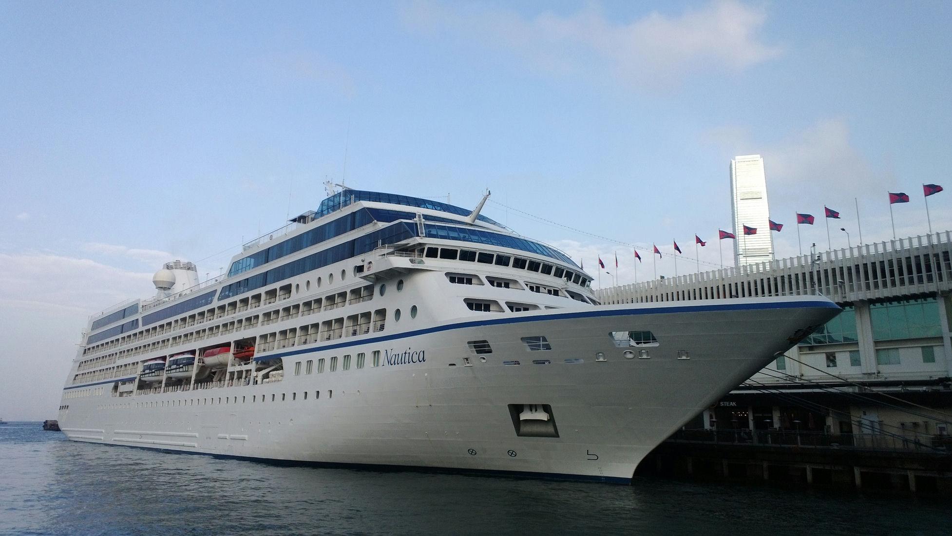 Cruise Nautica berths at the Ocean Terminal
