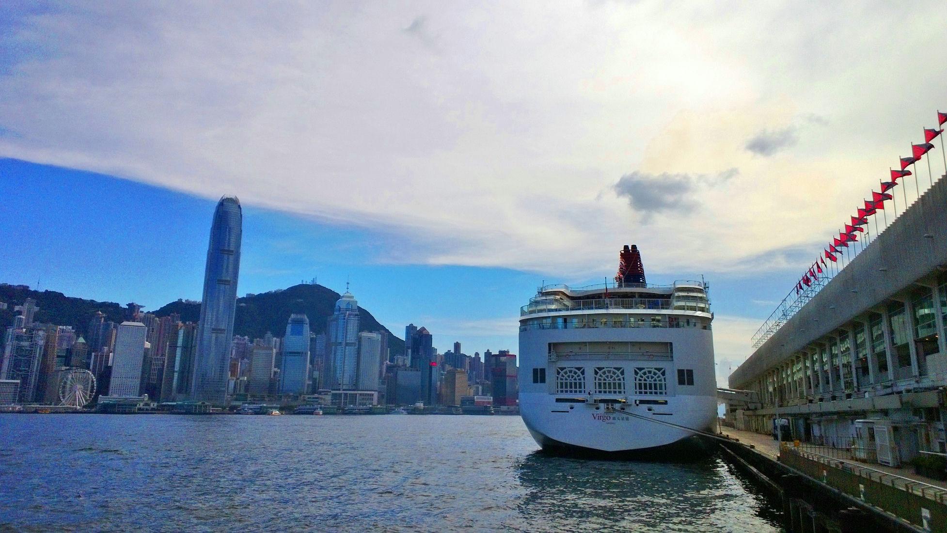 Cruise berths at the Ocean Terminal