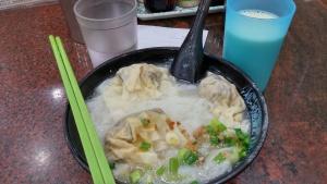 Dumpling rice flat noodle soybean milk water