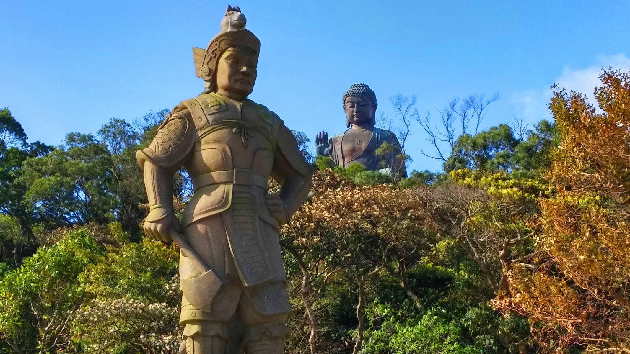 Divine General on Bodhi Road and Big Buddha