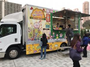 Food Truck customers Wong Tai Sin