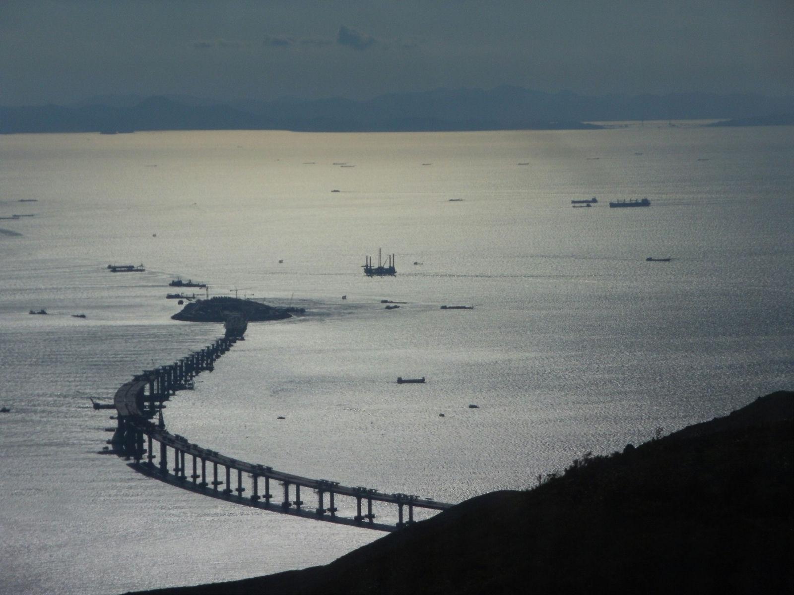 Hong Kong Macau Zhuhai Bridge from Ngong Ping 360 Cable Car