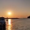sunset pier boat