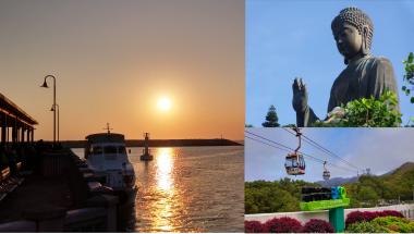 sunset boat Big Buddha Ngong Ping Cable Car