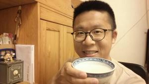 Frank enjoys father's home-made congee