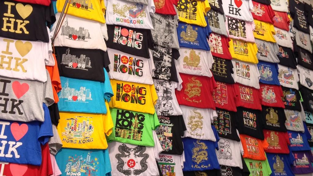 Mong Ko Ladies Market T-shirts stall