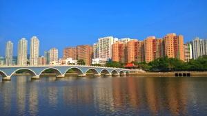 Sha Tin Shing Mun River view under good weather