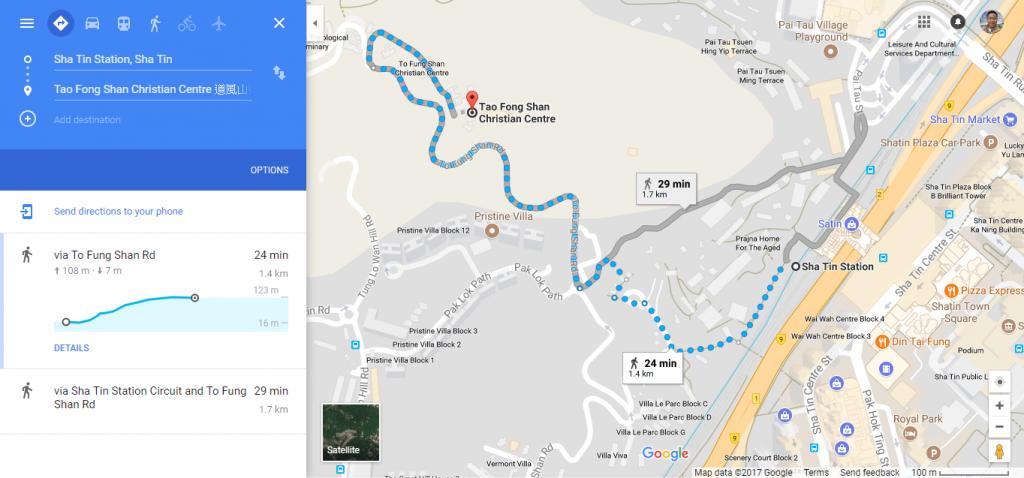 Tao Fong Shan Map