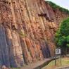 Hexagonal rock column at East Dam of High Island Reservoir