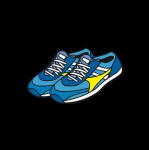 blue yellow sneaker