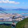 Hong Kong Airport from Ngong Ping 360 Cable Car cabin