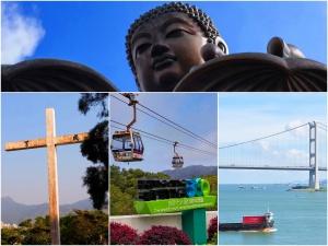 Lantau Big Buddha Tao Fung Shan Cross Ngong Ping 360 Tsing Ma Bridge