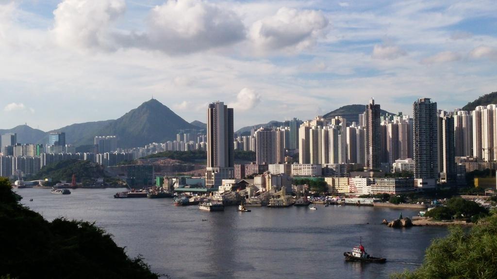 Enjoy nice view for Yau Tong and Kowloon Peak at Hong Kong Museum of Coastal Defence