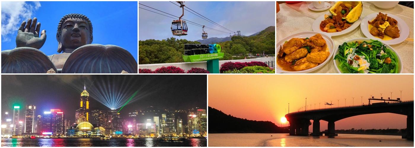 Big Buddha, Ngong Ping 360 Cable Car, local dinner, Hong Kong night view, Hong Kong sunset