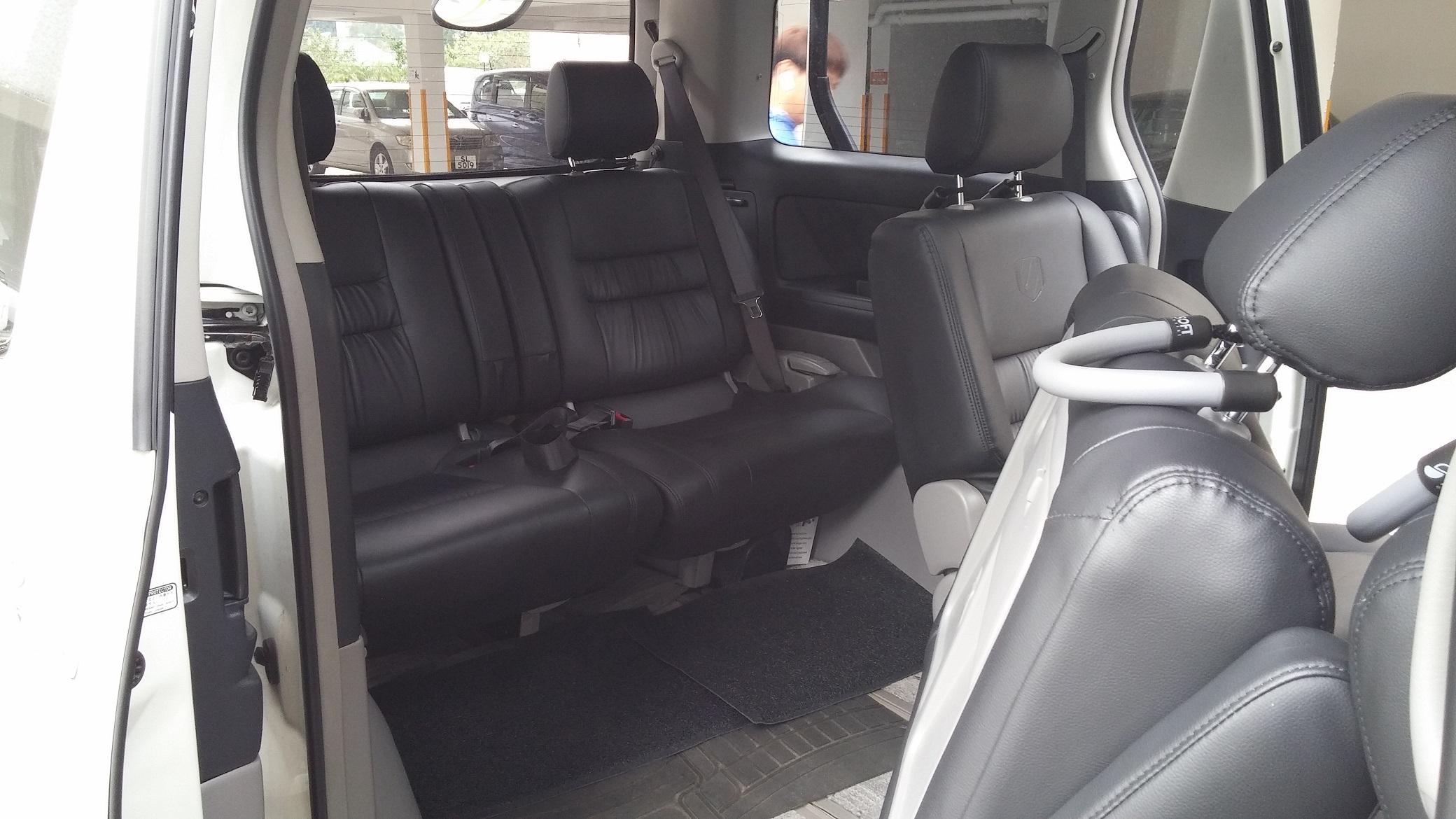 Alphard back row seating