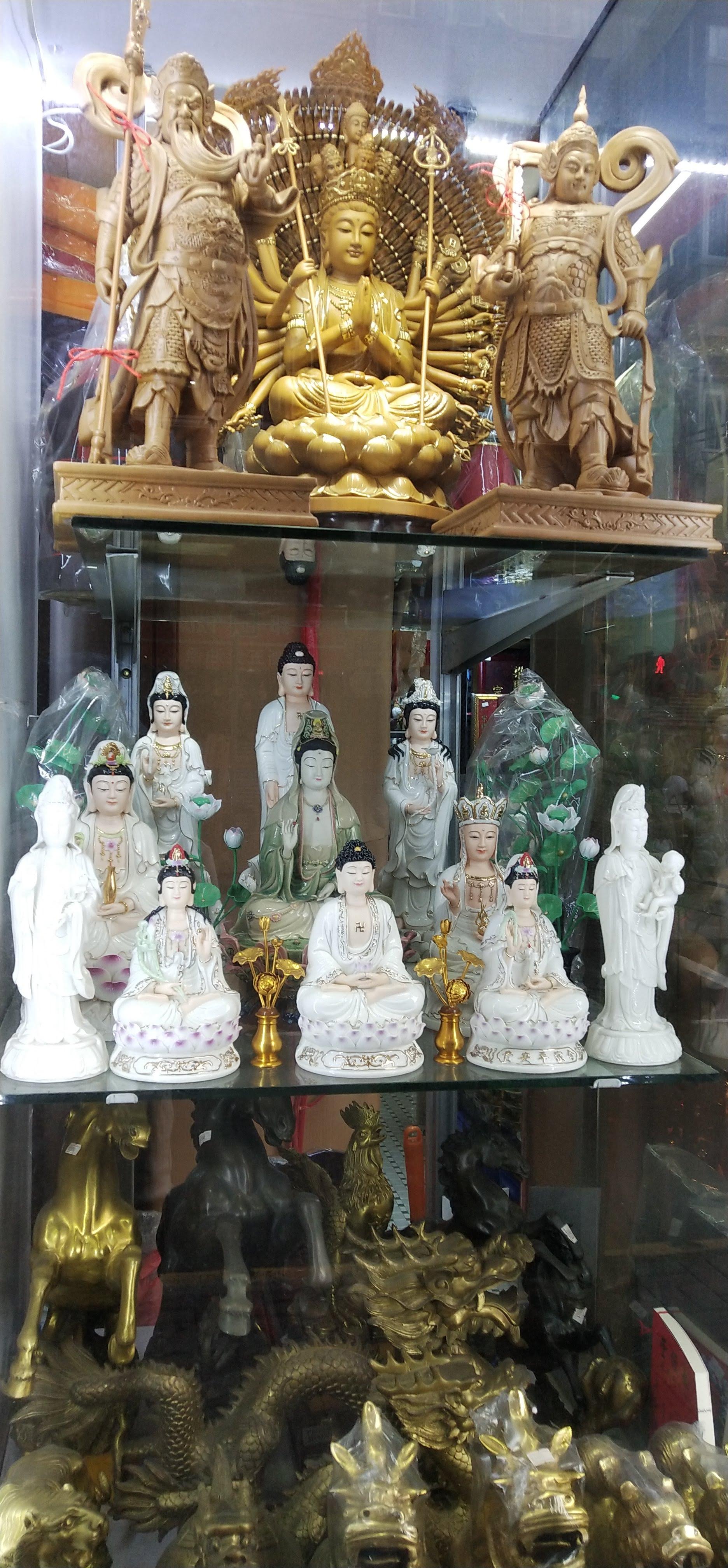 Buddhist and Taoist sculptures