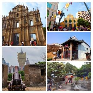 Macau Na Tcha Temple and Old City Wall Macau full day private car tour start at Hong Kong-COLLAGE
