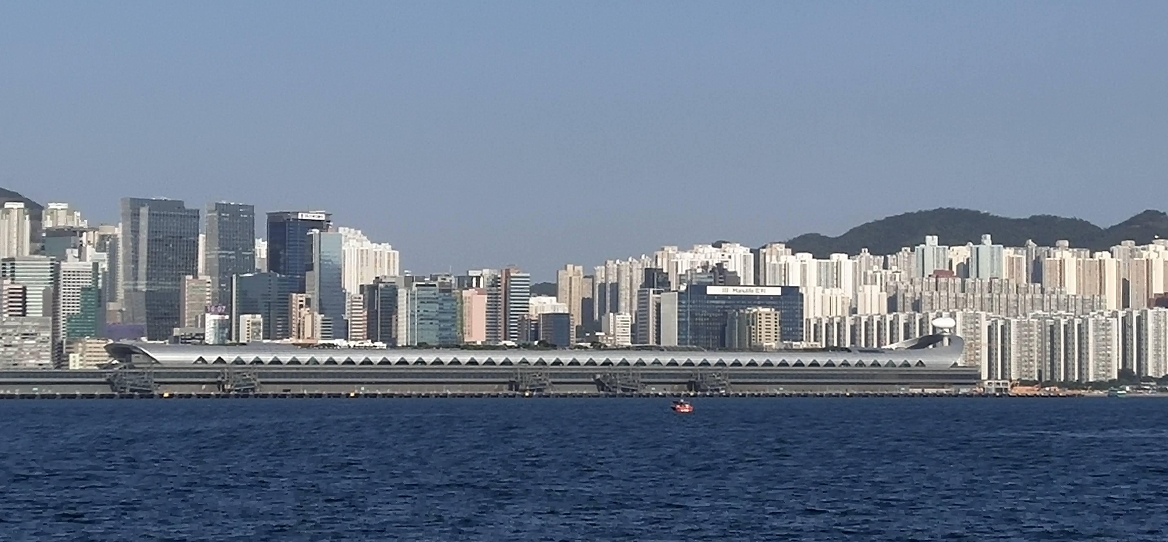 Kai Tak Cruise Terminal is empty under Covid-19.