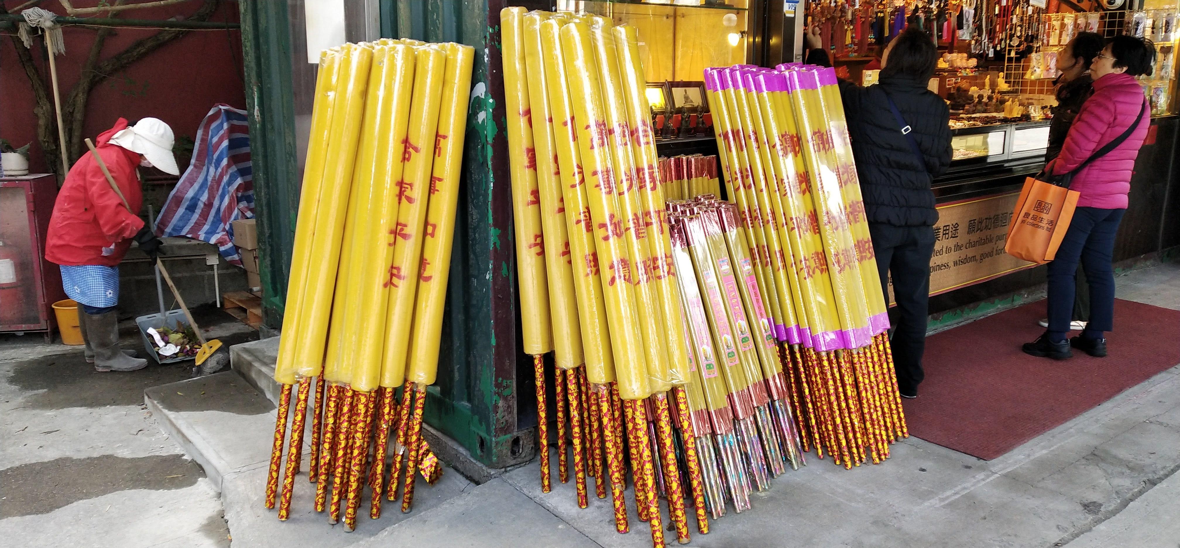 Long and big incense sticks