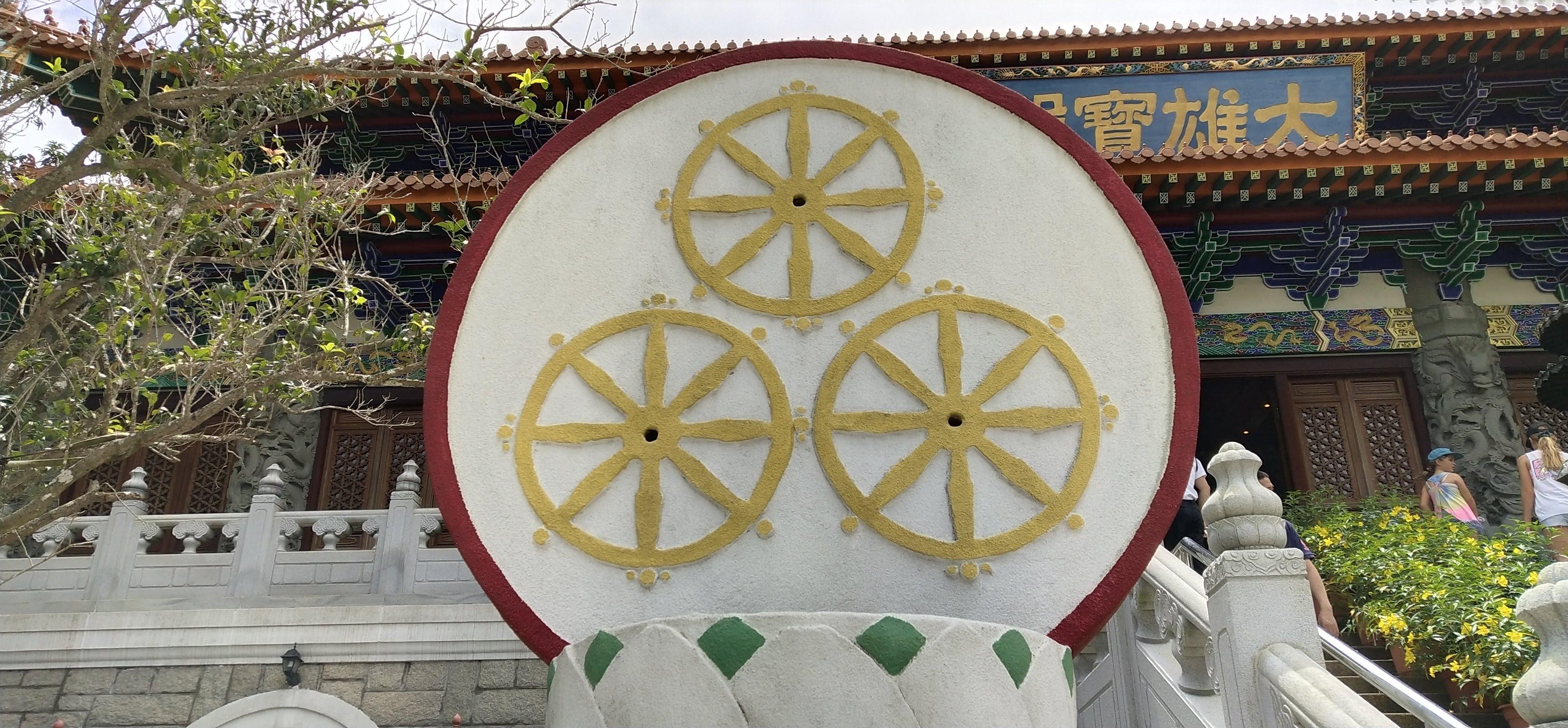 Traditionally Buddhists use Dharma Wheel to represent Buddha.