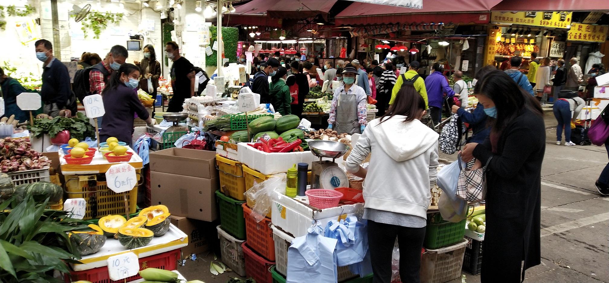Sham Chun Street is actually a wet market.