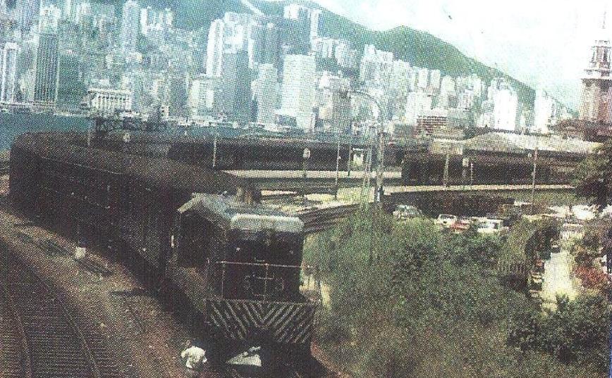 Train left the railway terminus opposite to Peninsula Hotel