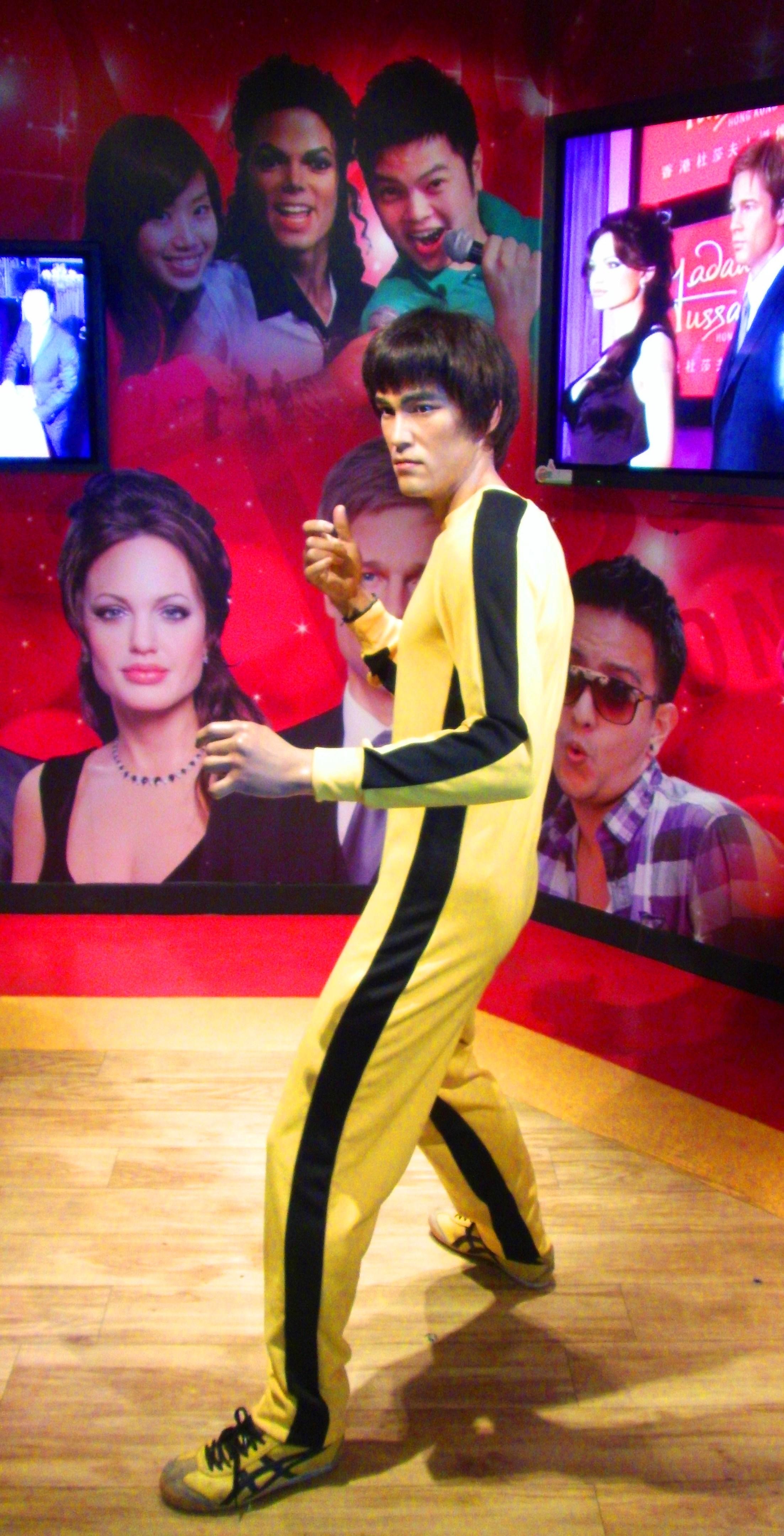 Bruce Li wax figure at Madame Tussauds