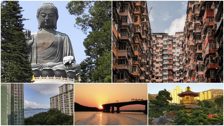 Big Buddha, Monster Building, Wah Fu Estate, sunset, Nan Lian Garden