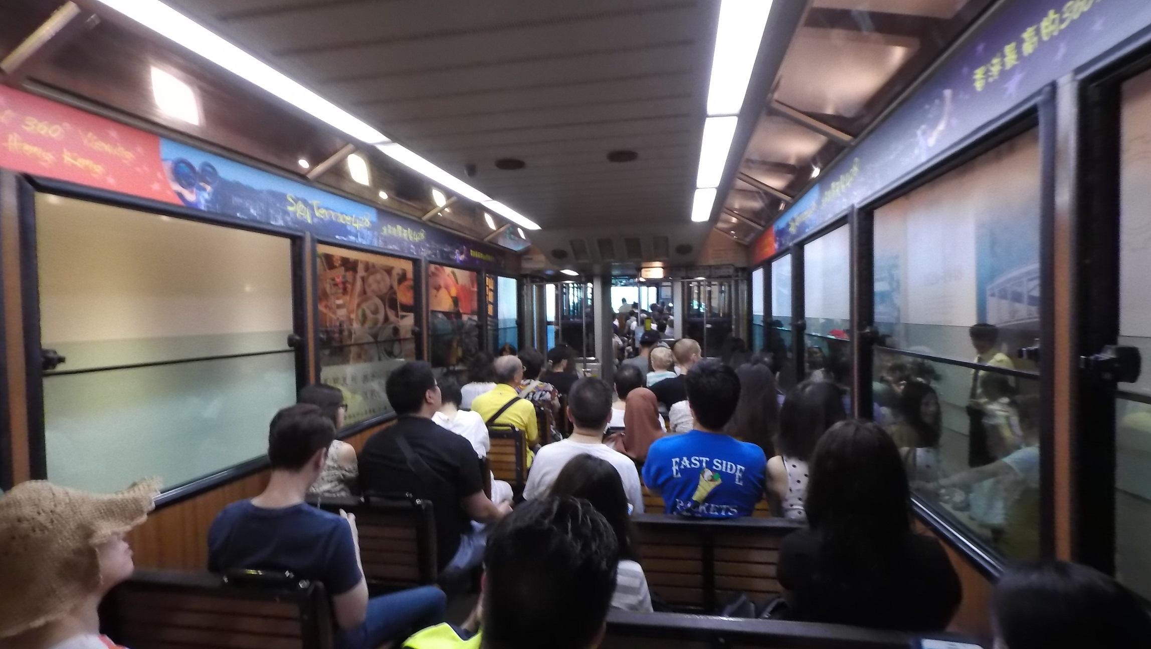 Peak Tram compartment