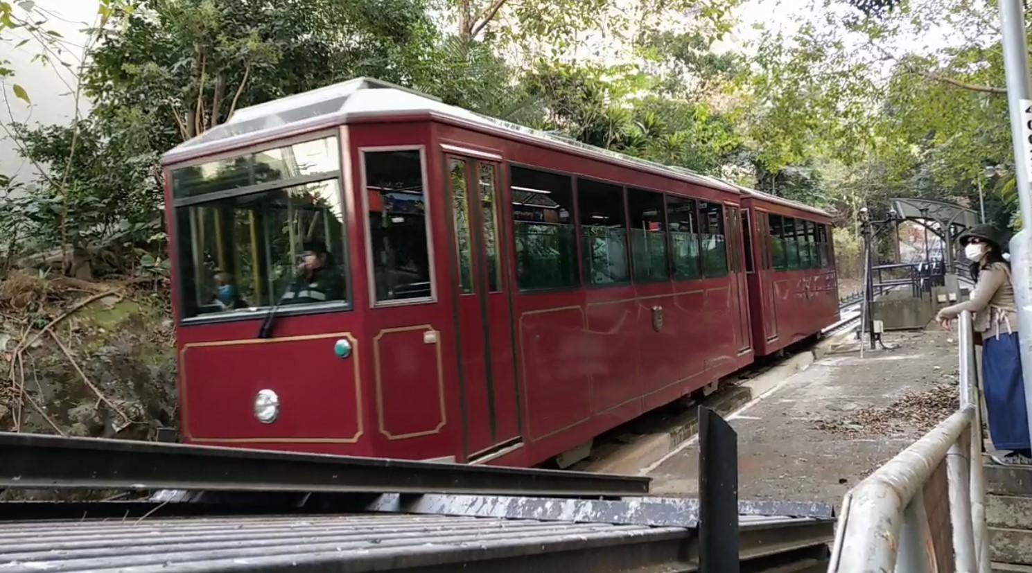 Peak Tram has two cars