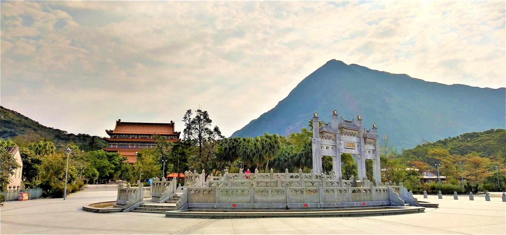 Po Lin Monastery and Lantau Peak