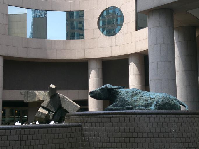 Tai Chi Sculpture and lying buffalo sculpture