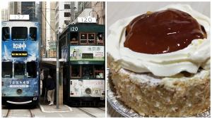 tram and cake
