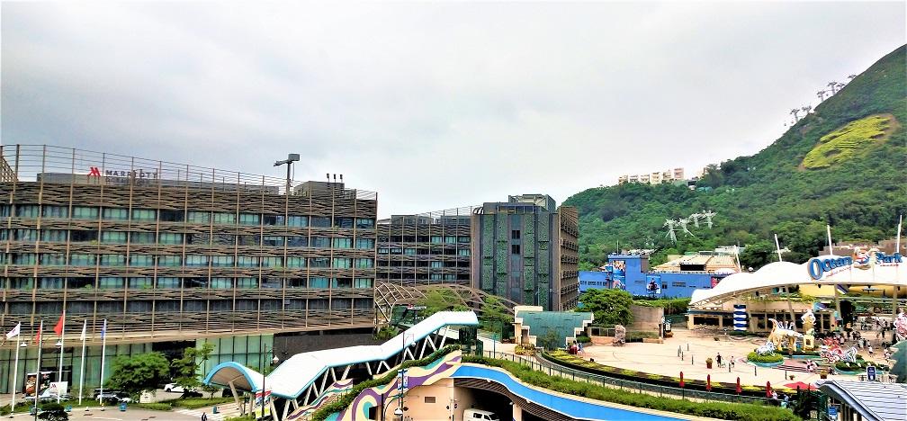 Marriott Ocean Park Hotel is right next to the Ocean Park.